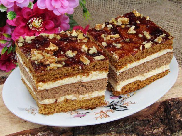 Ciasto piernikowe z powidłami i orzechami