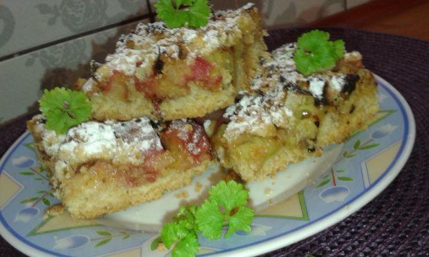 Ciasto rabarbarowe pod kruszonką