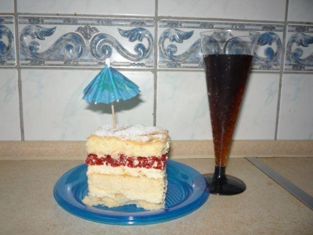 Ciasto serowe z malinami