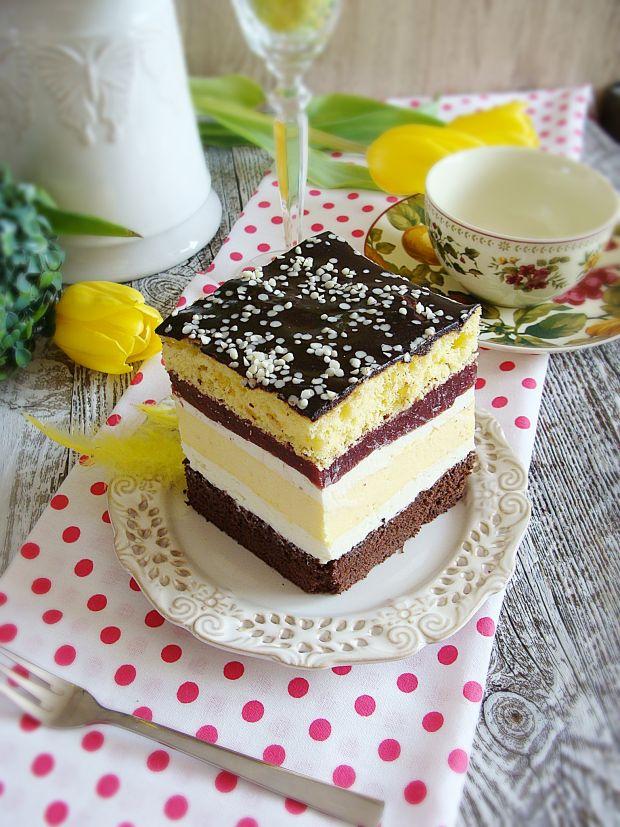 Ciasto serowo-wiśniowe