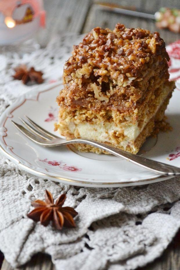 Ciasto snickers z kremem budyniowym