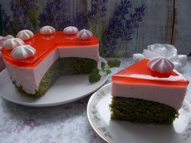 Ciasto szpinakowe z pianką