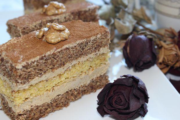 Ciasto tortowe orzechowo-kawowy