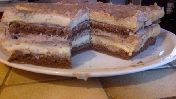 Ciasto tortowe z masą rumową *rumowy półmetek