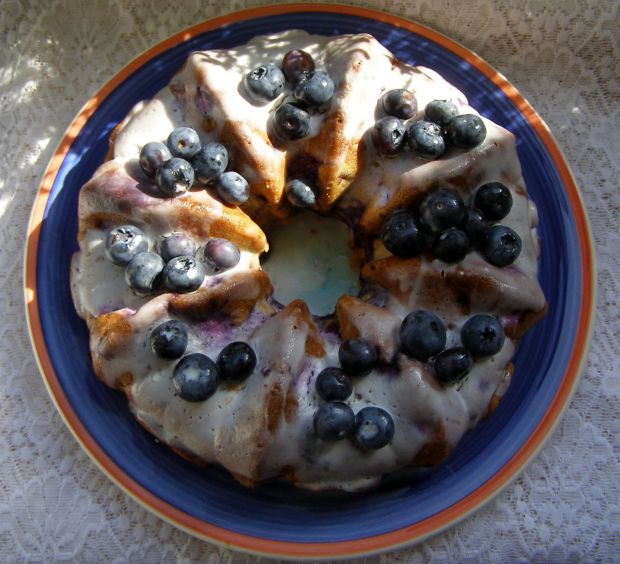 Ciasto ucierane z borówkami