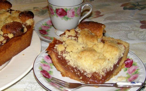 Ciasto ucierane z marmoladą i kruszonką
