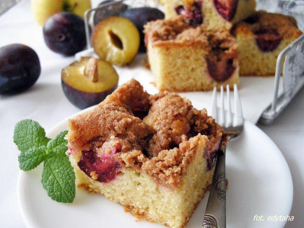 Ciasto Ucierane Ze Sliwkami Kruszonka