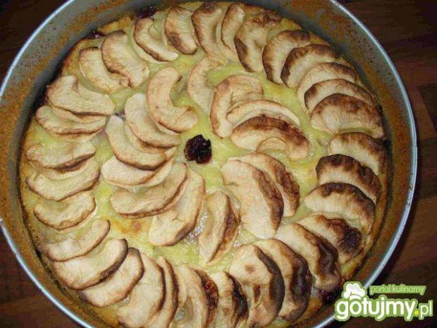 Ciasto wiśniowo-jabłkowe z budyniem