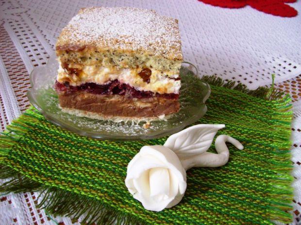 Ciasto- Wiśniowy blok