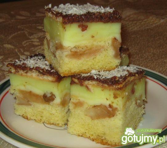 Szybkie Ciasto z Jabłkami i Budyniem Ciasto z Budyniem i Jabłkami 3