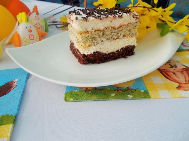 Ciasto z kakao i makiem