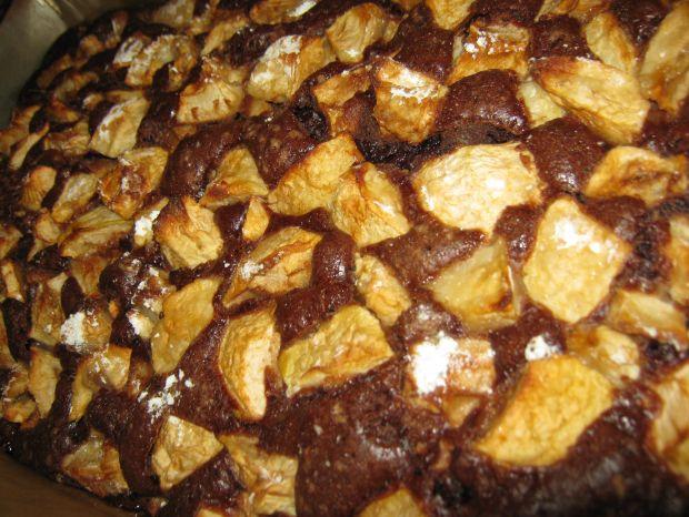 Ciasto z kakao i z jabłkami
