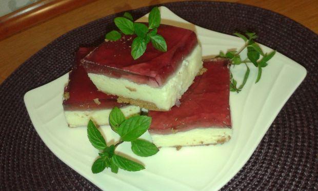 Ciasto z kaszy mannej i galaretki