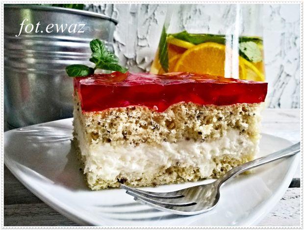 Ciasto z nektarynką i galaretką