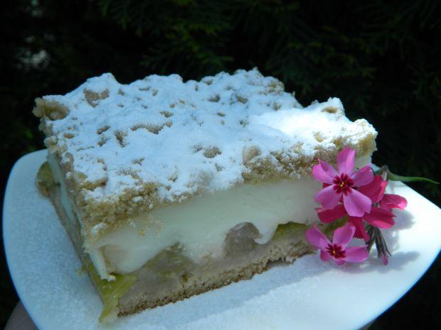 Ciasto z rabarbarem i budyniem