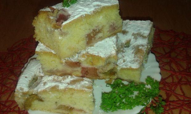 Ciasto z rabarbarem i truskawkami