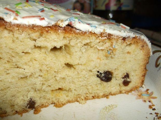 Ciasto z rodzynkami w polewie czekoladowej