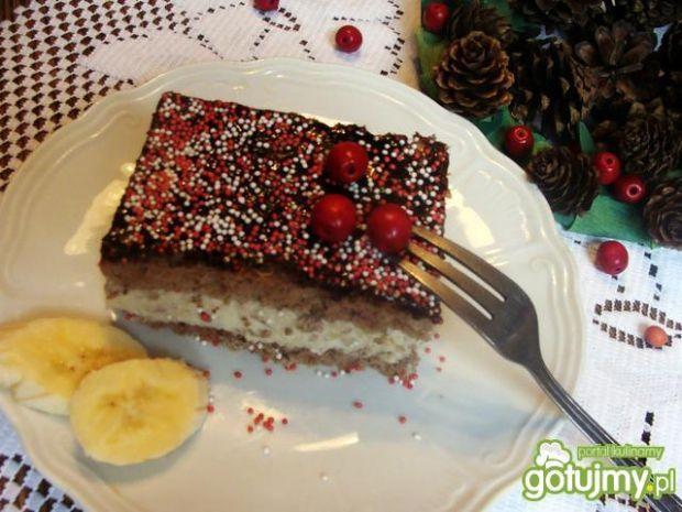 Ciasto z serowo- bananową masą