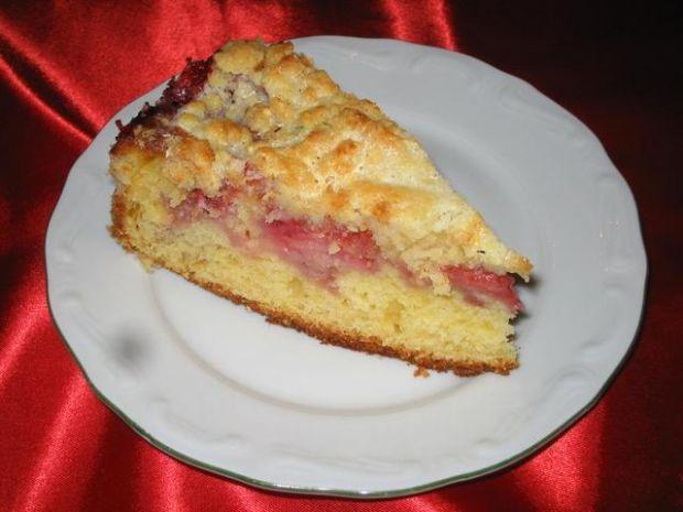 Ciasto z  truskawkami i kruszonka