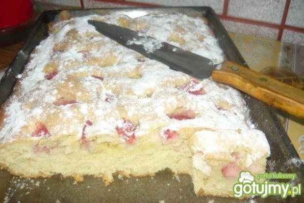 Ciasto z truskawkami wg Danusi