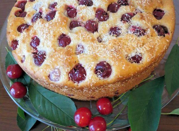 Ciasto z wiśniami na oleju