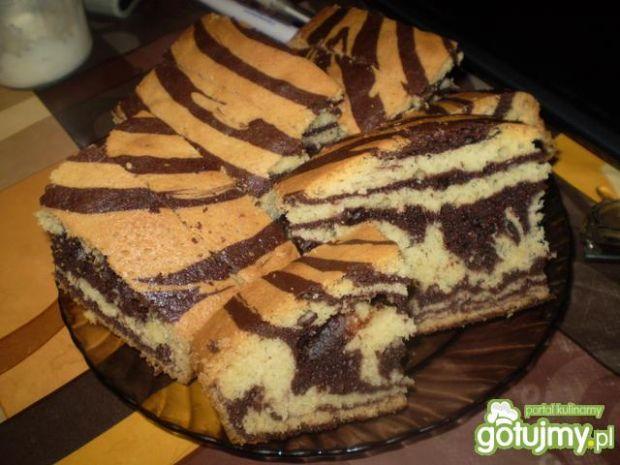 Ciasto zebra.