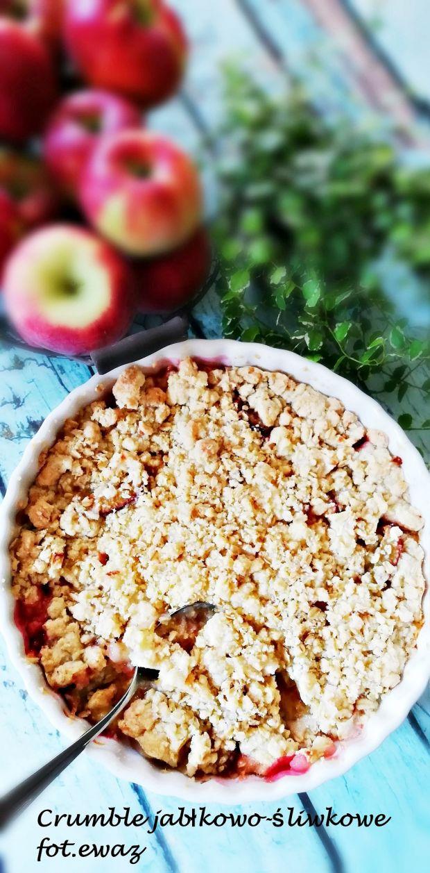 Crumble jabłkowo-śliwkowe