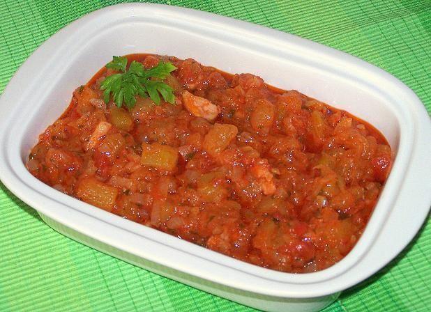 Cukinia w pomidorach