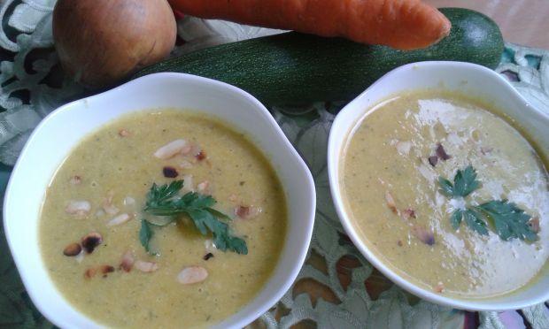 Cukiniowo - marchwiowa zupa krem