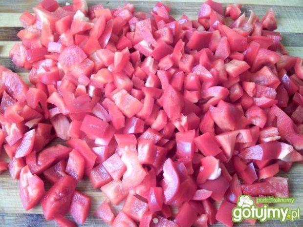 Cukiniowo pomidorowe leczo z białą kiełb