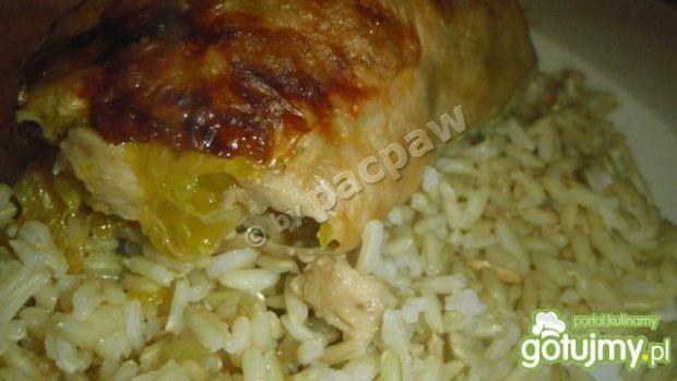 Ćwiartka kurczaka faszerowana