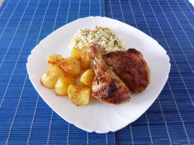Ćwiartka z kurczaka w słodko-pikantnej marynacie