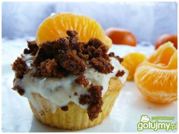 Cynamonowe cupcakes z mandarynkami