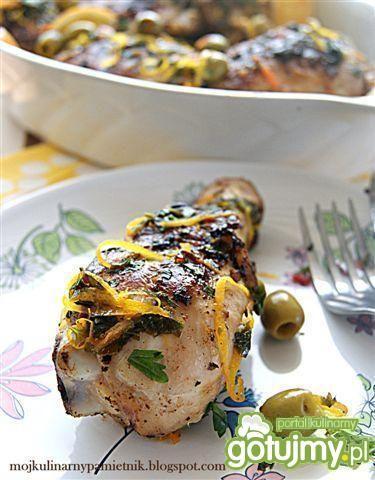 Cytrusowy kurczak z oliwkami