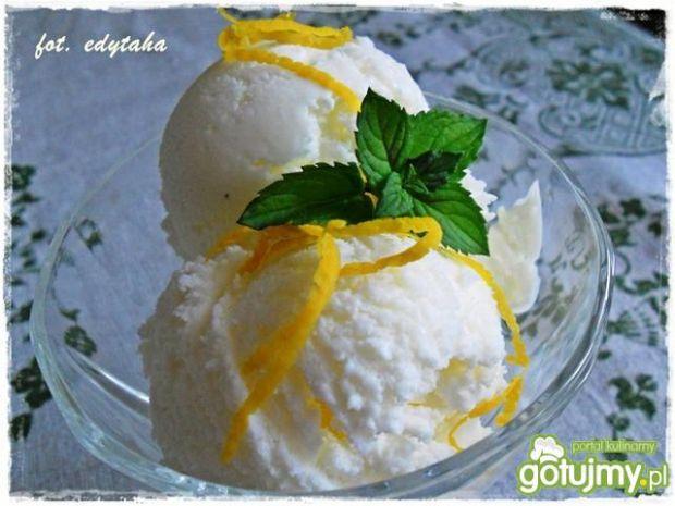 Cytrynowe lody na jogurcie