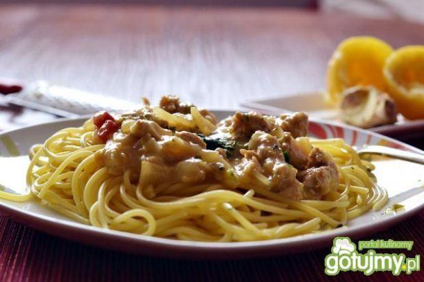 Cytrynowe spaghetti