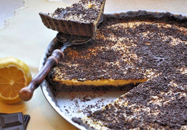 Cytrynowo-czekoladowa tarta