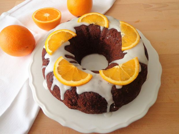 Czekoladowe ciasto z pomarańczą