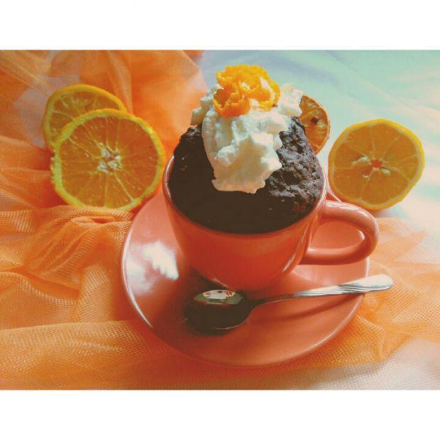 Czekoladowo- pomarańczowe ciastko w 5 minut ; )