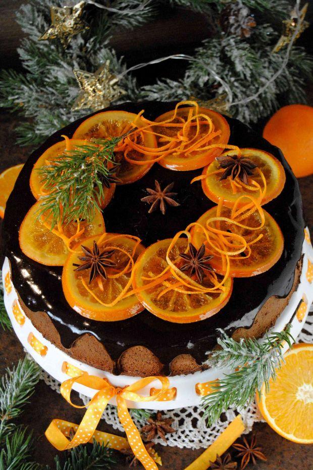 Czekoladowo- pomarańczowy sernik