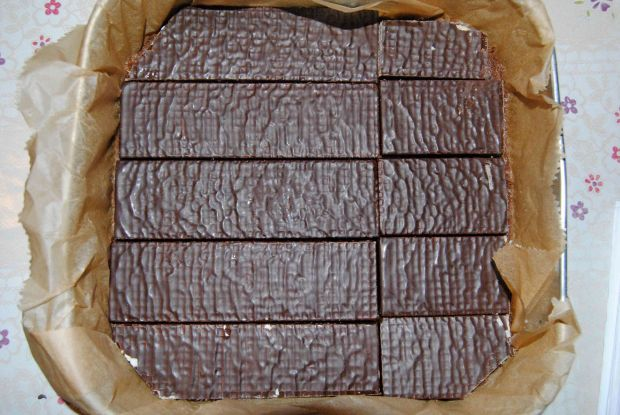 Czekoladowo- wafelkowy sernik