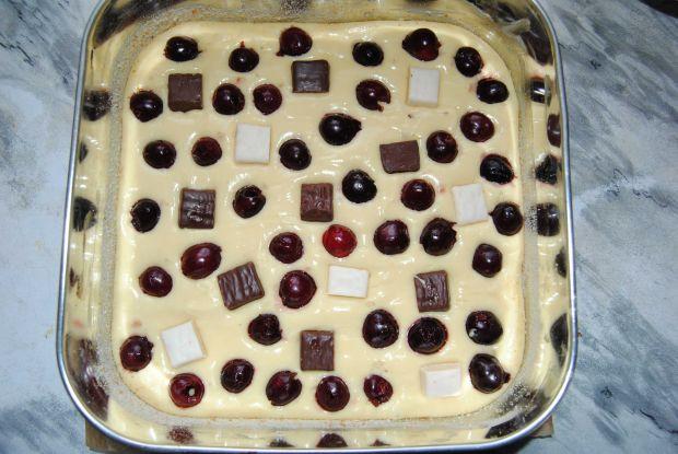 Czereśnio- michałkowe ciasto