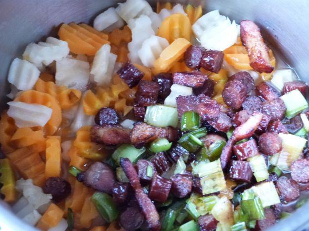 Czerwona fasola z warzywami
