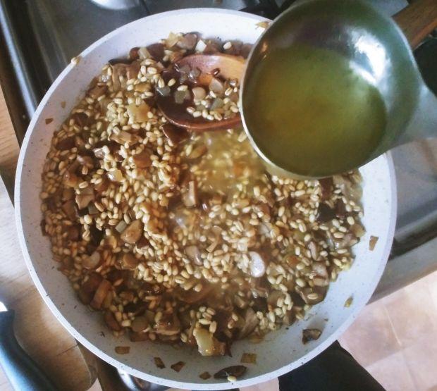 Danie jednogarnkowe - pęczotto z grzybami