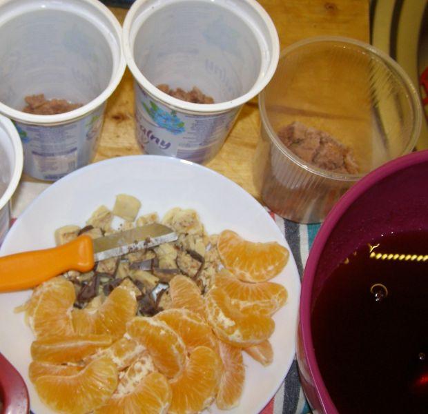 Deser jogurtowy z mandarynkami