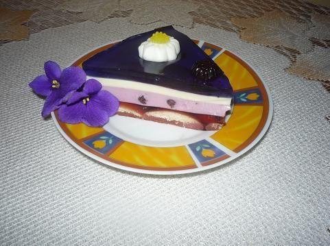 Deser Violetty (panna cotta)