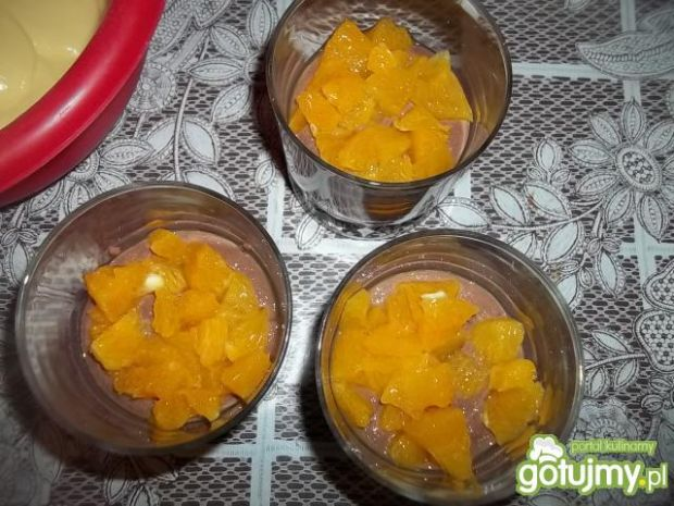 Deser z kaszą i pomarańczami