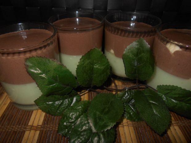 Deser z nutą czekoladowo-miętową