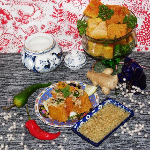 Dhokla- indyjski biszkopt z ciecierzycy