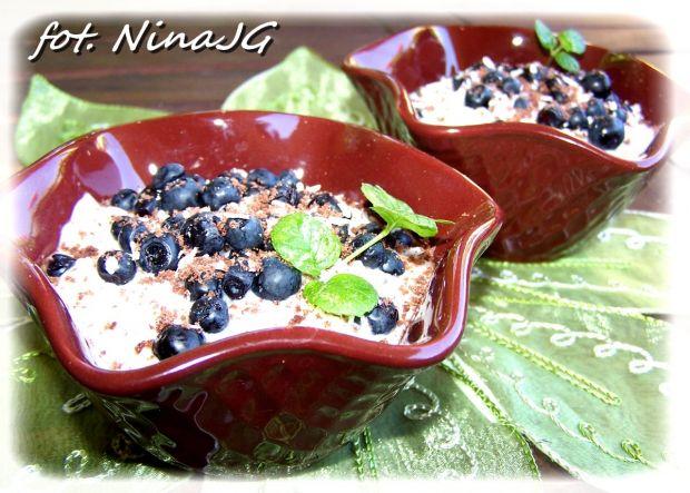 Dietetyczny deser jagodowy